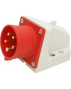 Wandgerätestecker CEE 16A/5 (3L+N+E) 400V 6h IP44