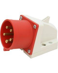 Wandgerätestecker CEE 32A/5 (3L+N+E) 400V 6h IP44