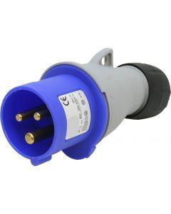 Stecker CEE 16 2P+E blau