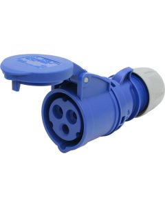 Kupplung blau CEE 16A/3 (2L+E) 230V 6h