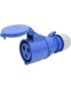 Kupplung blau CEE 32A/3 (2L+E) 230V 6h
