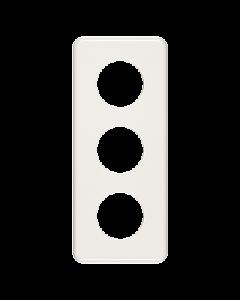 Abdeckplatte 3-teilig Bohrung 3x43 mm weiss Feller Standard