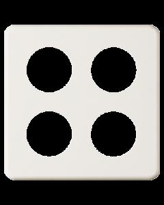 Abdeckplatte 4-teilig quadratisch Bohrung 4xØ43 mm weiss Feller Standard
