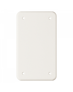 Abdeckplatte ungebohrt 2x1 weiss Feller Standard