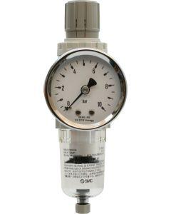 "Filterregler MINI 1/4"" mit Manometer / Kondensatablass manuell"