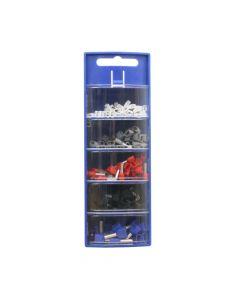 Doppeladerendhülsen-Sortimentbox blau