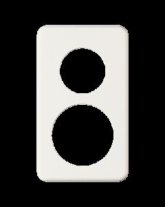 Abdeckplatte 2x1 Bohrungen Ø 43+58 mm weiss Feller Standard
