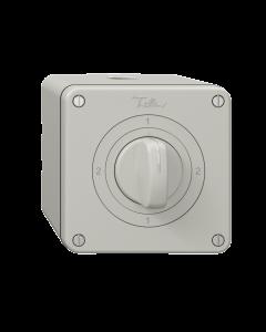 Drehschalter FELLER NEVO NAP 3/1L 2-1-2-1 lichtgrau