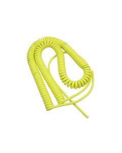 PUR-Spiralkabel gelb 3x1mm2 / 600mm - 2000mm