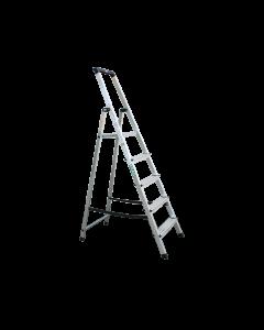 Stufen-Stehleiter ALU 1x5 Stufen (inklusive Plattform)