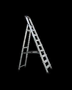 Stufen-Stehleiter ALU 1x8 Stufen (inklusive Plattform)