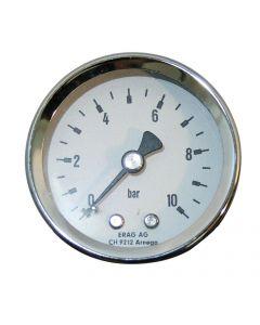 """Manometer 1/4""""  0-10 bar  Ø54mm mit Anschluss hinten"""