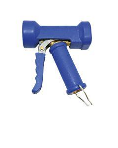 Waschpistole klein Messing - blauer Schutzmantel