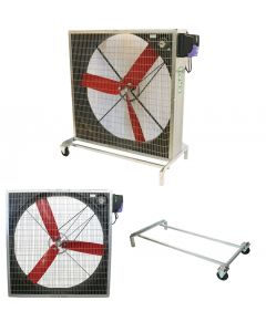 Grossraumventilator MULTIFAN 130/1250 / 3 Schaufeln mit Frequenzumformer und Fahrwerk